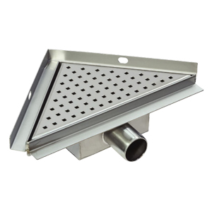 Stainless steel triangle shower drain, XCFD-06