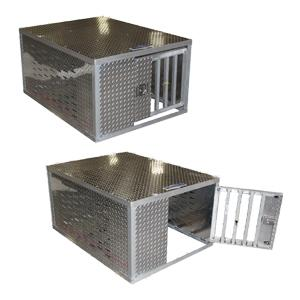 Aluminum dog boxes for trucks bed
