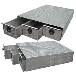 Aluminum truck bed drawer tool box