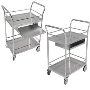 Stainless steel computer cart for hospital
