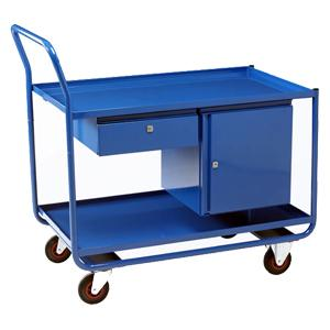 Trolley with Drawer and Cupboard